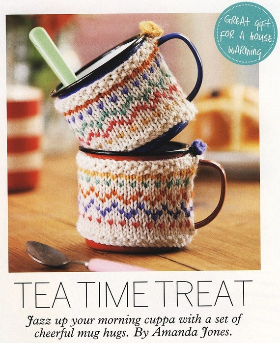 Knitting Patterns For FAIR ISLE Kitchen Accessories. Tea Cosy