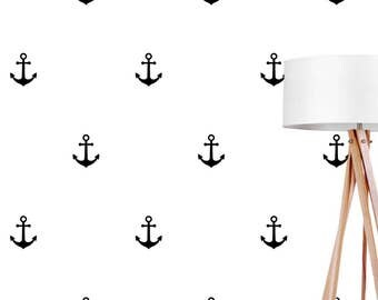 Anchor Wall Decals, Wall Stickers, Anchor Wall Stickers, Anchor Pattern, Kids Wall Decal, Nautical Decal, Pattern Wall, Anchor Decals,