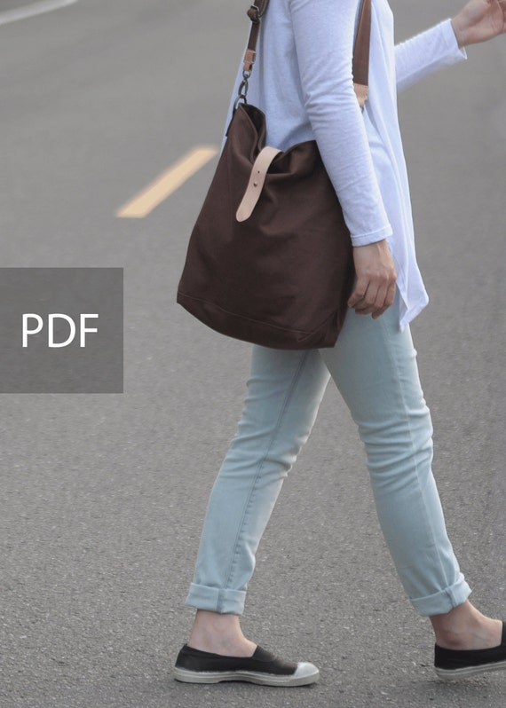 Hobo Canvas Bag - Bag PDF Sewing Pattern - with Sewing Tutorials  by niizo (no supplies)