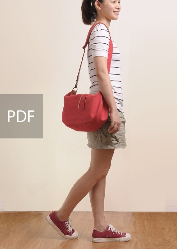 Good times Canvas Shoulder Bag - Bag PDF Sewing Pattern - with Sewing Tutorials by niizo