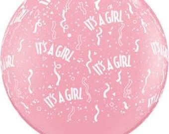 Baby Shower Girl Latex Balloon/Giant Baby Girl Latex Balloon 36 inches/Pink Baby Shower Girl Balloon