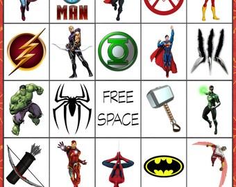 Super Hero Bingo
