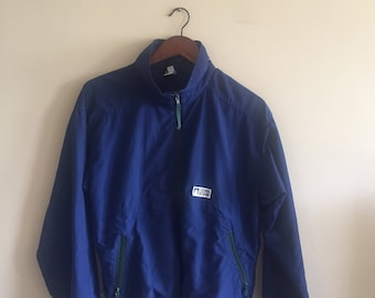 Vintage Sierra Designs Navy Blue Jacket made in Canada Spring Jacket Summer Jacket Hiking Jacket Vintage Windbreaker