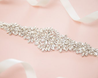 Bridal sash - bridal belt - crystal sash - wedding sash - rhinestone sash - wedding belt - rhinestone bridal belt - bridal sashes and belts
