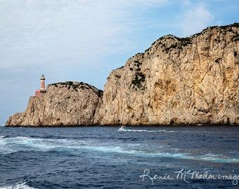 Large coastal art,blue tan, Italy photography,nautical decor, ocean photography, beach house art,lake house decor,lighthouse photo, wall art