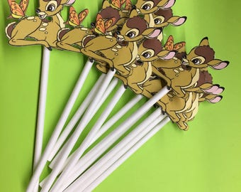 Bambi cupcake toppers or treat sticks