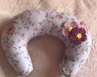 Lavender Floral Crotchef Mini Boppy Pillow