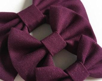 Deep Purple Fabric Hair Bow - Kona Fabric Bow - Purple Fabric Bow - Fabric Hair Bow - Spring Fabric Bow - Girls Hair Bow -  Kona Cotton Bow