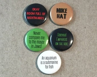 New Ghostbusters 2016 Melissa McCarthy Movie Quotes Fan Art 5 - 1 Inches Pinback Button Pin Set