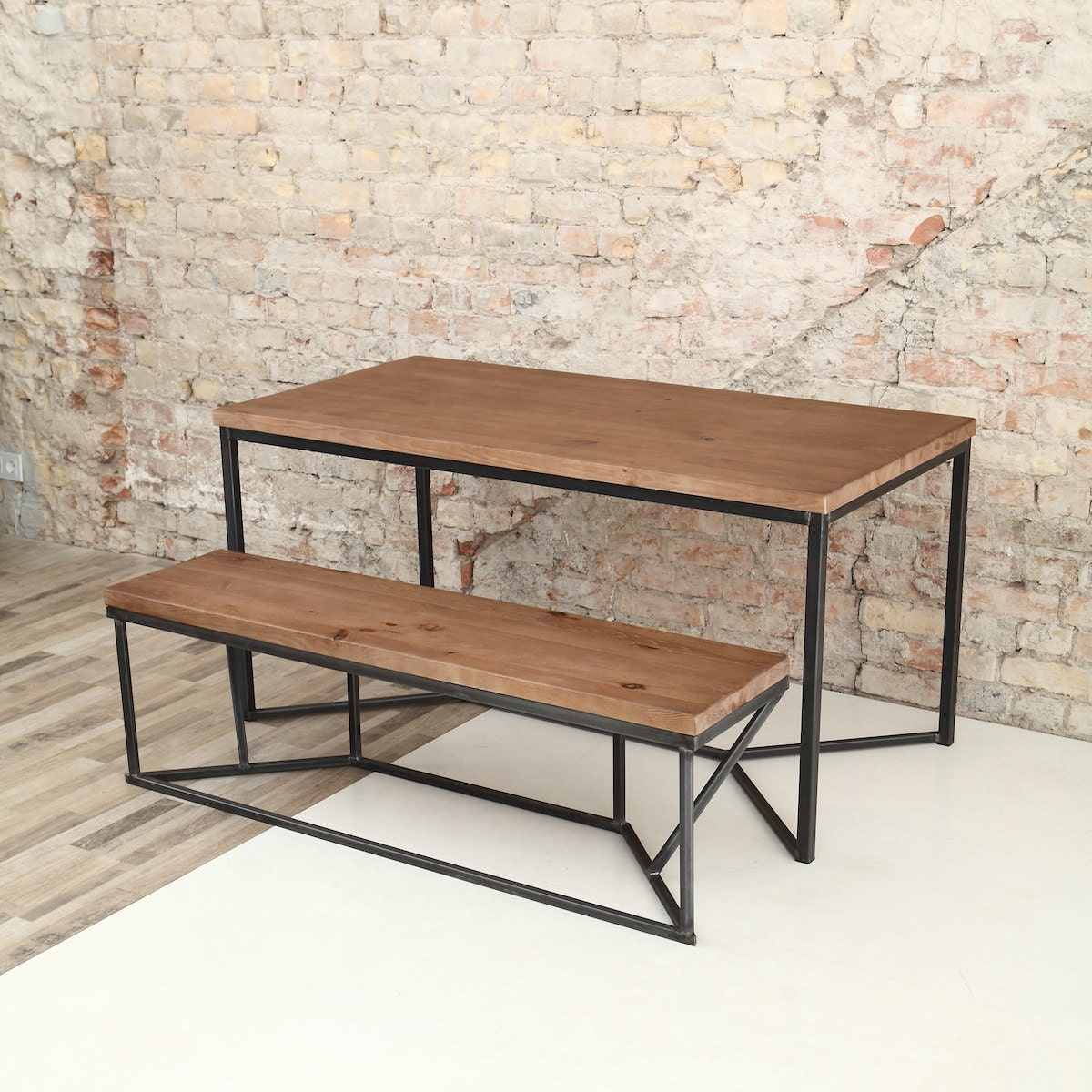 Industrial Kitchen Tables: Solid Industrial Dining Table