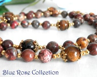 Catholic rosary, vintage style rosary for men and women, antique gold gemstone rosary, Catholic gift for retirement, wedding, sponsor, etc.
