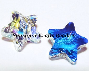 Swarovski Crystal Beads 6Pcs 5714 CRYSTAL AB 8mm Faceted Star Bead