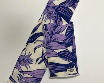 Burp Cloth, Spit Up Rag, Purple Hawaiian Print