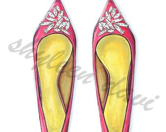 Pink Glam Shoes