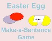 Easter Egg Hunt Make a Sentence Game, Printable Easter Egg Stuffers, Digital Download