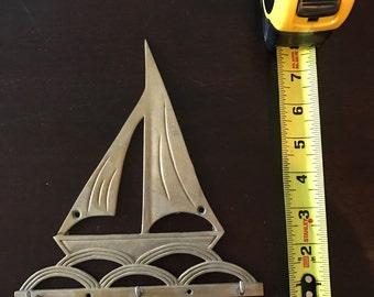 Vintage brass sailboat hook