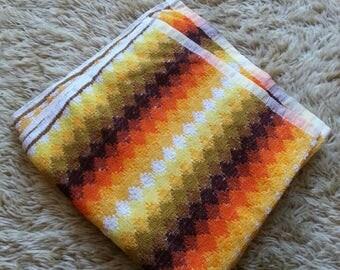 Retro Bath Towel. Vintage Towel. 70s Bath Towel.