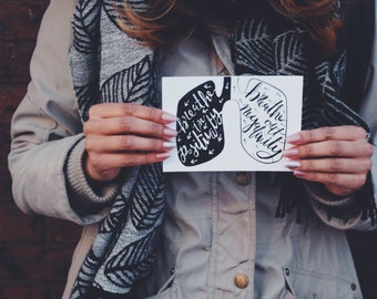 Breathe in Positivity Cards