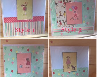 Children's square Birthday Cards Belle and Boo designs. Free 1st class P&P