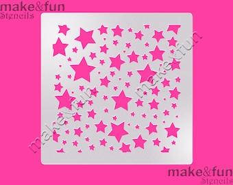 Stars Pattern Cake Stencil, Cookie Stencil, Designer, Pochoir, Airbrush stencil, Torten Schablone