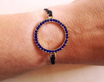 Blue circle Bracelet