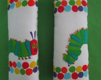 The hungry caterpiller-reversible seat belt covers,Australian made-*NEW*