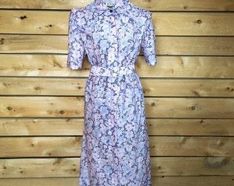 Vintage dress vintage womens clothing vintage clothing birthday dress vintage style vintage fashion printed dress floral dress size medium