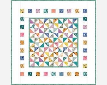 "PRECIOUS BUNDLE Baby Quilt Pattern | 43"" x 43"" (107.5cm x 107.4cm)"