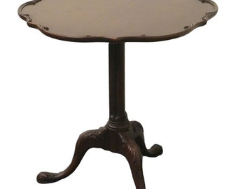 IMPERIAL Grand Rapids Mahogany Pie Crust Tilt Top Table