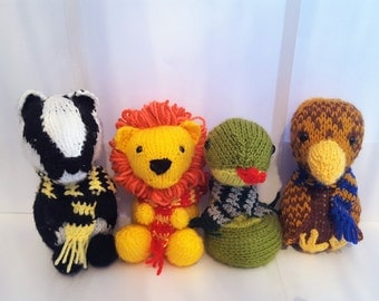 House Baby Mascots Hand Knitted Plush Toys, unofficial products inspired by Harry potter *FREE UK SHIPPING*