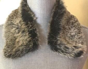 Vintage Rabbit Fur Collar, Angora Dress Makers Collar, Coat Collar, Sweater Collar, Rabbit Collar