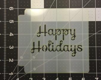Happy Holidays Stencil 100