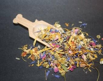 Tea Bath Tea-Rose, Chamomile,Jasmine Bath Herbs - Bath Tea - Floral Bath Herbs-Floral Bath Tea-Organic Skincare,Mothers day,birthday,showers