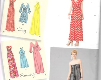 Ladys Knit Dresses, Evening or Casual, Sizes 14 Thru 22, New Simplicity Pattern 1804