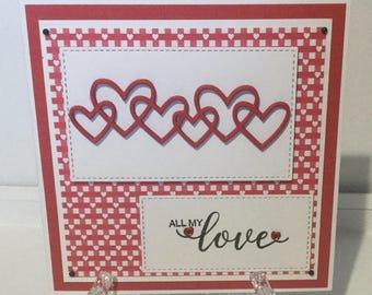 Handmade Anniversary/ Love card