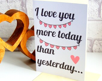 Valentines Day Card, funny valentines card, humorous valentines card, card for valentines, unisex valentines card, for the one I love