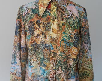 Unique Women's blouse - Italian Renaissance print