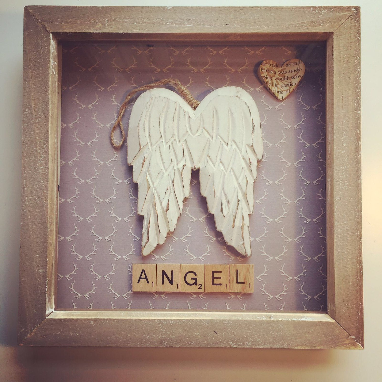 Angel wings picture frame from scrabbledabble99 on etsy studio angel wings picture frame sold by scrabbledabble99 jeuxipadfo Image collections