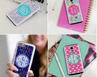 SALE Monogrammed Phone Case