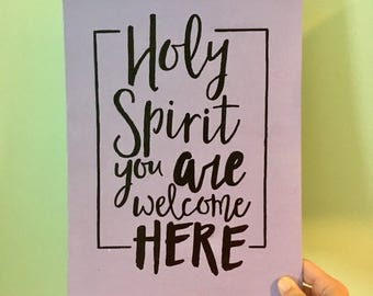 Holy Spirit Canvas Sign