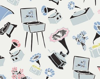 Pastel Thrift by Art Gallery Fabrics - Gramoflora Lullabie  (PST-75505)   Floral Print
