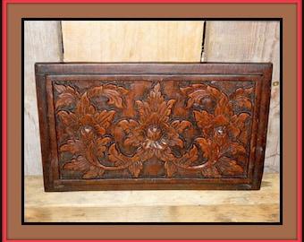 Vintage hand carved oak carvings.