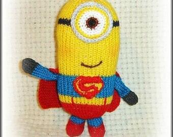 Toy minion,Minion Knitting, Stuffed, Minion gift, Mignon is a superhero, Mignon boy, Mignon girl. Gift to the child,Minion with girlfriend