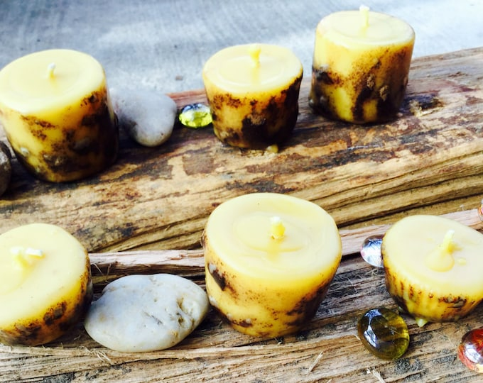 Wicca Spell candles-beeswax candles-6 spell candles-pure beeswax-ritual candle-Wiccan candles-organic altar candle-natural candle-candle