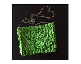 Crochet crossbody bag.Knit crossbody purse.Summer Boho bag.Hipie bag.Crochet handbag.Knit green purse.Crochet tote.Festival bag.Gift for her