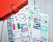 Office Girl-Personal Planner Vertical/Horizontal// Planner sticker kit Erin Condren Happy Planner Travelers Notebook SMC