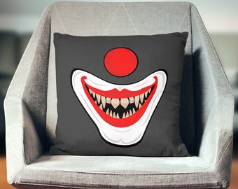 Clown Decoration   Clown Décor   Clown Pillow   Clown Pillow Case   Clown Throw Pillow   Clown Pillow Cover   Clown Cushion