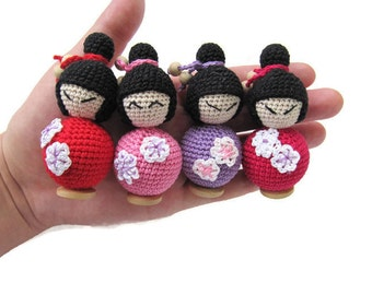 bendy doll wooden toy tiny doll asian dolls pocket doll kokeshi doll natural beaded doll organic baby girl gift for sister kidness toys kid