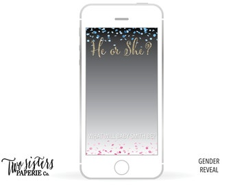 Gender Reveal Snapchat Filter - Gender Reveal Geofilter - Gender Reveal Snapchat Filter -  He or She Snapchat Geofilter