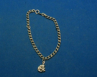 Vintage Van Dell Disney Winnie The Pooh Sterling Starter Charm Bracelet